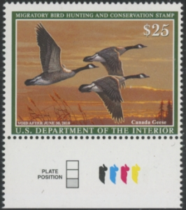 Scan of RW84 2017 Duck Stamp