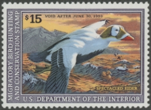 Scan of RW59 1992 Duck Stamp