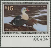 Scan of RW58 1991 Duck Stamp
