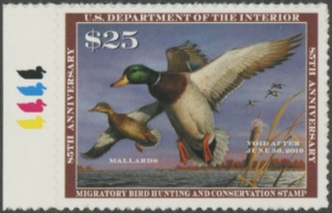Scan of RW85 2018 Duck Stamp