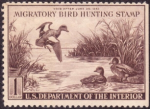 Scan of RW9 1942 Duck Stamp