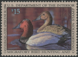 Scan of RW60 1993 Duck Stamp Grade 98