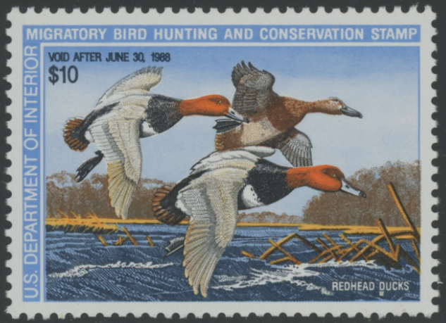 Scan of RW54 1987 Duck Stamp Grade Sup 98