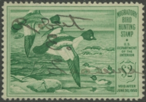 Scan of RW16 1949 Duck Stamp  Used F-VF