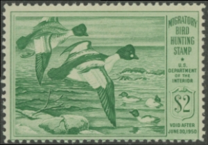 Scan of RW16 1949 Duck Stamp