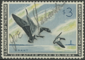 Scan of RW30 1963 Duck Stamp