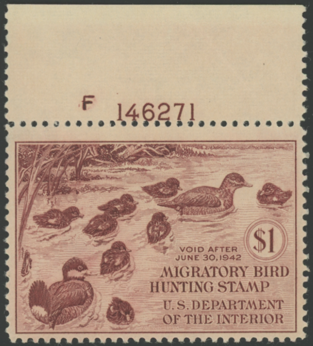Scan of RW8 1941 Duck Stamp MNH F-VF