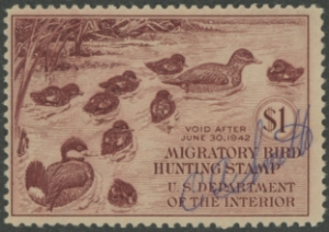 Scan of RW8 1941 Duck Stamp  Used F-VF