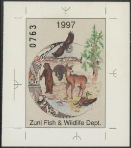Scan of 1997 Zuni Pueblo Habitat Stamp MNH VF
