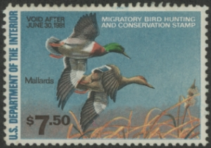 Scan of RW47 1980 Duck Stamp  Unsigned VF