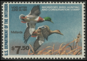 Scan of RW47 1980 Duck Stamp