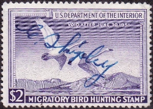 Scan of RW17 1950 Duck Stamp  Used F-VF