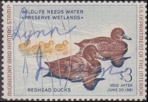 Scan of RW27 1960 Duck Stamp  Used F-VF