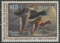 Scan of RW66 1999 Duck Stamp  Used VF - XF