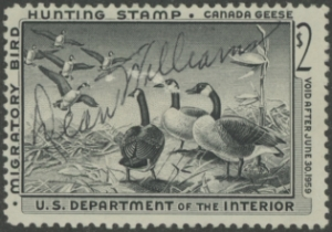 Scan of RW25 1958 Duck Stamp  Used Fine