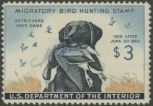 Scan of RW26 1959 Duck Stamp  Used Fine