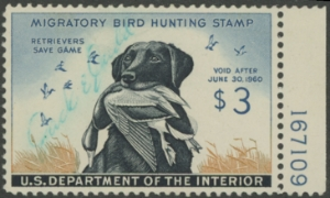 Scan of RW26 1959 Duck Stamp  Used VF