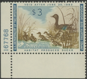 Scan of RW28 1961 Duck Stamp  MNH F - VF