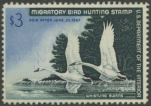 Scan of RW33 1966 Duck Stamp