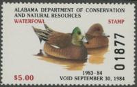 Scan of 1983 Alabama Duck Stamp MNH VF