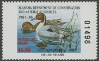 Scan of 1987 Alabama Duck Stamp MNH VF
