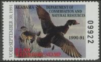 Scan of 1990 Alabama Duck Stamp MNH VF