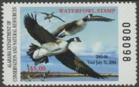 Scan of 2005 Alabama Duck Stamp MNH VF