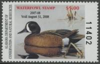 Scan of 2007 Alabama Duck Stamp MNH VF