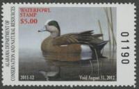 Scan of 2011 Alabama Duck Stamp MNH VF