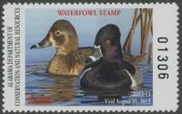 Scan of 2012 Alabama Duck Stamp MNH VF
