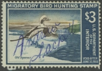 Scan of RW34 1967 Duck Stamp  Used Fine