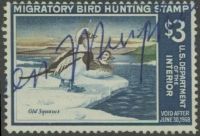 Scan of RW34 1967 Duck Stamp  Used VG